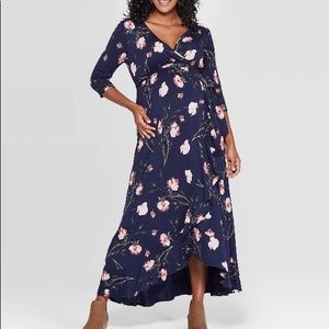 Isabel Maternity Floral Dress